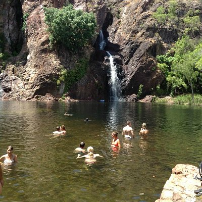 One of the places we swam