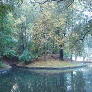 Старинный пруд в Нескучном саду