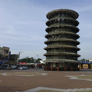 Teluk Intan's famous leaning water tower