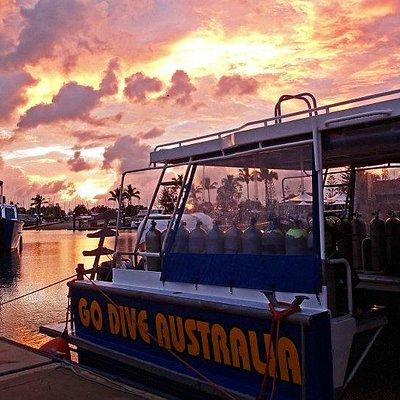 Sunrise over marina