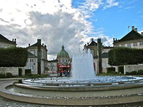 Fountain and church
