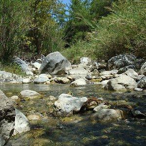 la rivière en haut de la gorge