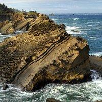 Fabulous Rocks Eroded from Crashing Waves