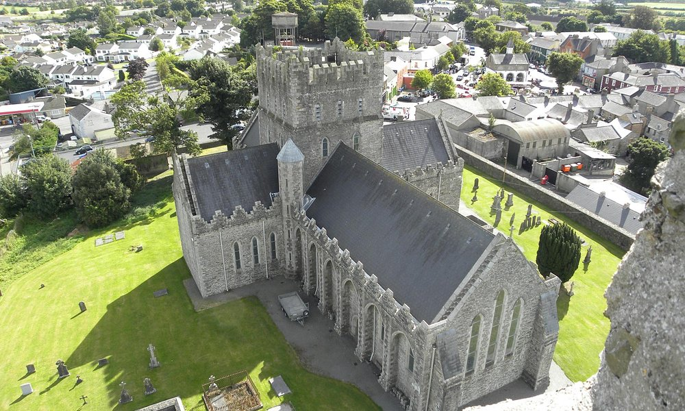 St. Brigid's Kildare Cathederal, view from atop Round Tower