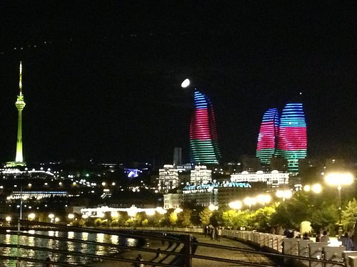 Exterior shot from the Boluvar..  They love their flag BTW