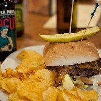 Bucko Burger and Rogue Juniper Pale Ale