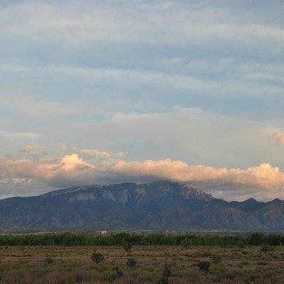 Sandia peak at sunset