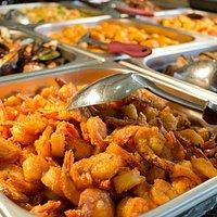 New Saigon Puget - buffet a volonté crevette à l'ail