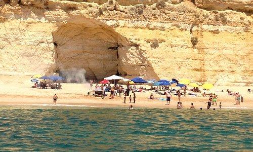 Barbacoa en playa privada