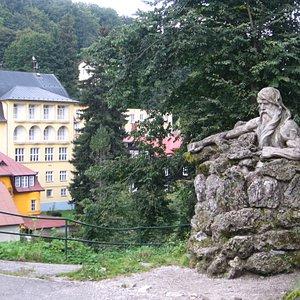 veduta dalla piazza di Janske Lazne