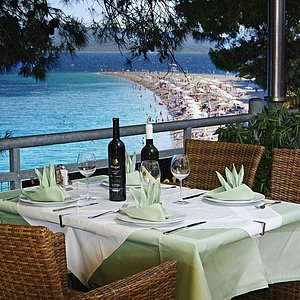 A meal with a view of Zlatni Rat at Restaurant Veranda -10% discount for our guests