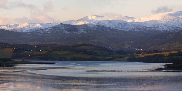 Snowdonia from the front of house.