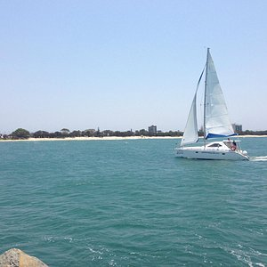 Sailing off Mooloolaba