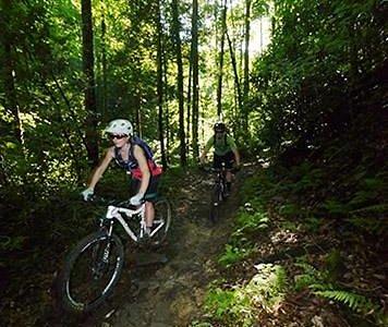 Fun on lower Black Mountain trail