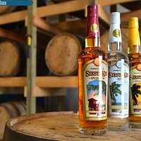 Siesta Key Spiced, Silver, and Gold rums.