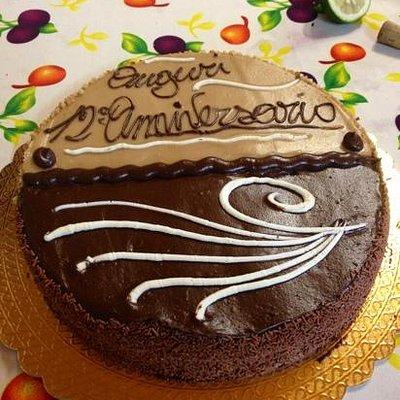 torta metà nocciola metà cioccolato...Buonissima !!!!!