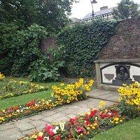 flower garden and memorial