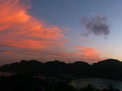 Magnificent sunset from the Viewpoint