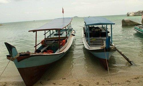 Boats that took us to Pulau Kepayang / Babi