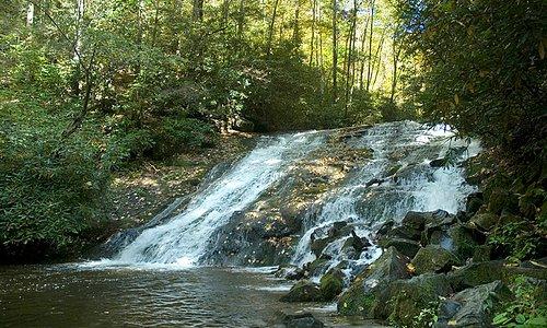 Indian Creek Falls Near Bryson City