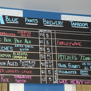 Chalkboard Showing What's on Tap