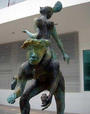"""""""La pareja del trompo"""" by Bolivian artist Jose Bayro"""