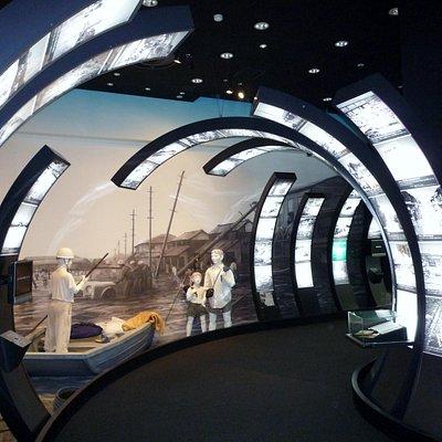 過去の台風被害の展示