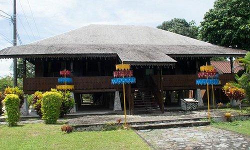 Front view of the Rumah Adat Belitung