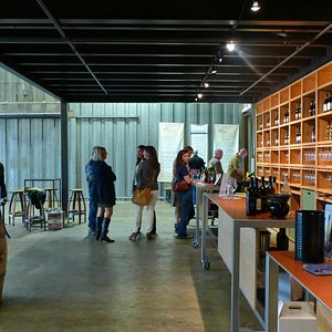 Tasting room for Telaya, Cinder, and Coiled wineries