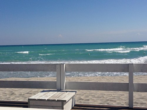 Our amazing view from the beachside patio deck at Lido Acqua