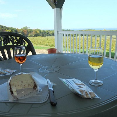 Magnificent view while enjoying wine and cheese