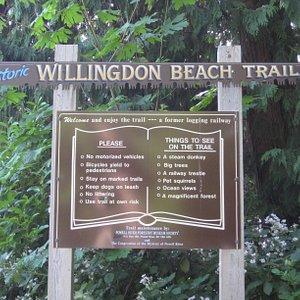 Trail marker.