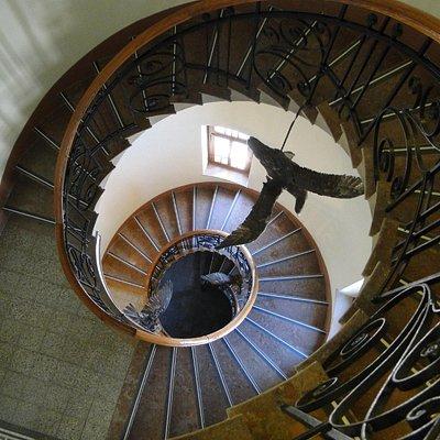 Spiraling staircase
