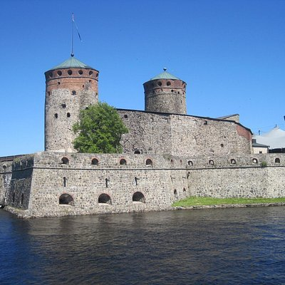 Beautiful Olavinkatu Castle in Savonlinna, Finland