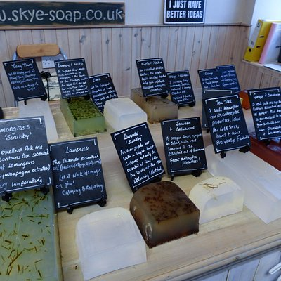 Fresh soaps ready for slicing