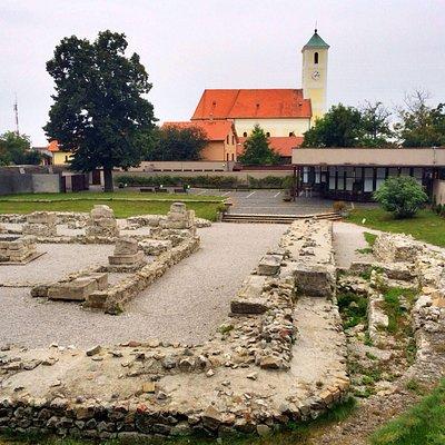 Ruins of ancient Roman castello.Gerulata