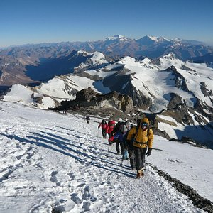 On our way to the summit. Aconcagua 2008