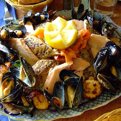Seafood platter, The Old Forge