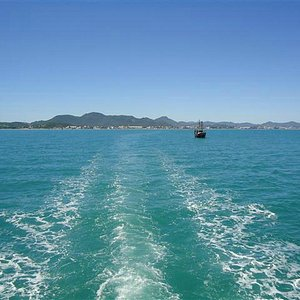 Passeio de barco em Canasvieiras