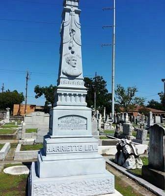 Jewish Cemetery: the stone on Harriette Levi grave