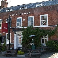 Outside the White Horse Hotel pub in Haslemere