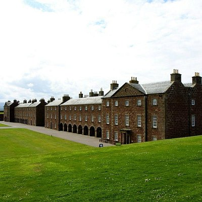 Fort George - the Regimental Museum is in the foreground, formerly the governor's Residence