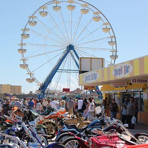 During the annual bike show on the Boardwalk.