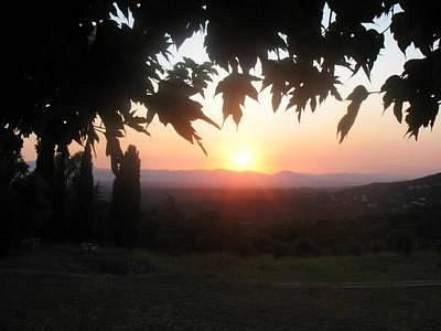 Sunset in Romanya de la Selva.
