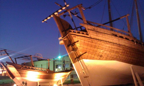 Typical boats outside the museum