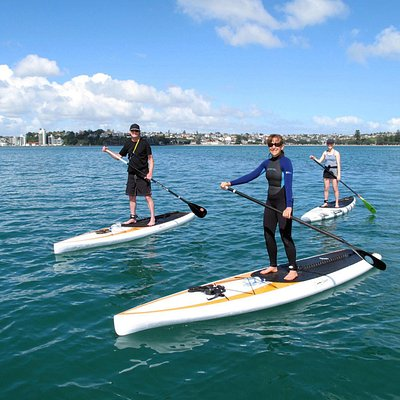 SUPing at Auckland's best beach!