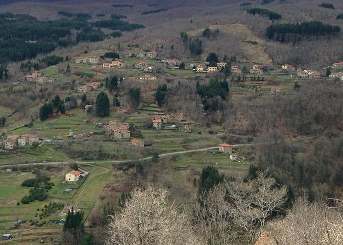 Veduta dal belvedere di Montemignaio