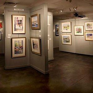 Fine art displayed in an attractive and professional environment