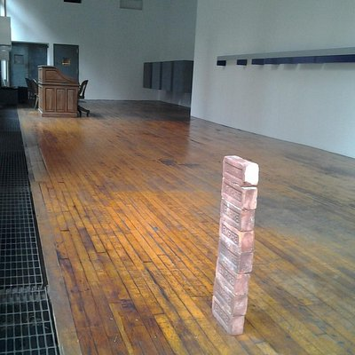 Left, Rear Right, and Right, Judd. Foreground, Carl Andre