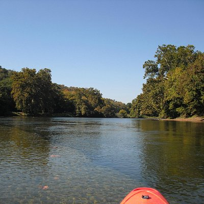 A leisurely float down the river on a beautiful fall day